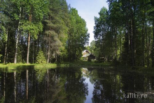 Дом-двор на берегу озера, конец XIX в.