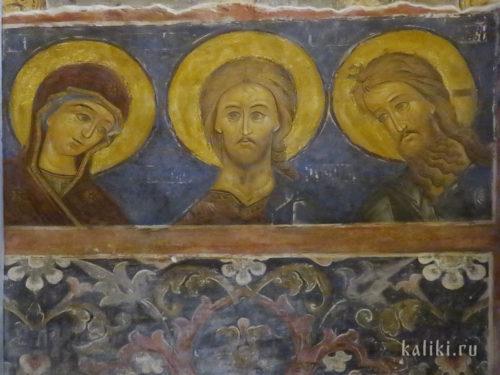 Фрески Богородице-Рождественского собора. Фрагмент 6. Деисус. 1635 - 1636 гг.