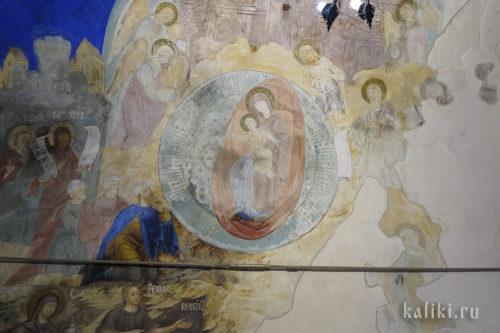 Фрески Богородице-Рождественского собора. Фрагмент 1