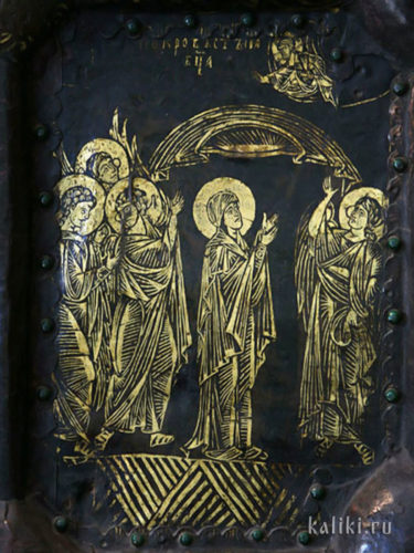 Западные Златые врата. Фрагмент. Покров Пресвятой Богородицы