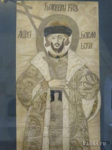 Покров на гробницу св. князя Андрея Боголюбского. XVIII в. Фрагмент.