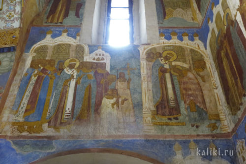 Фрески Спасо-Преображенского собора. Евфимиевский придел. Фрагмент 1