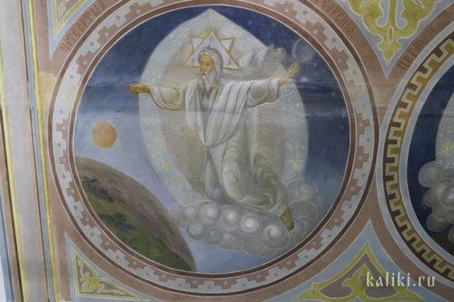 """""""Четвертый день творения"""". Роспись западного притвора. 1913 г."""
