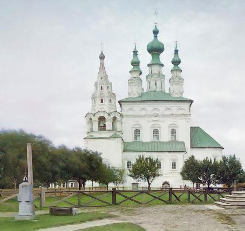 Троицкий собор. Фотография С.М. Прокудина-Горского (нач. XX в.) взята из открытых источников