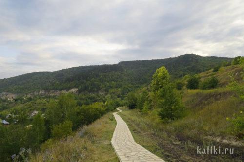 Дорожка на смотровую площадку в Ширяево