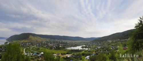 Вид на Ширяево со смотровой площадки