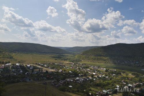 Вид на Ширяево с южного склона Монастырской горы