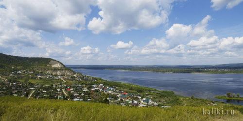 Вид на Ширяево и Волгу с Монастырской горы