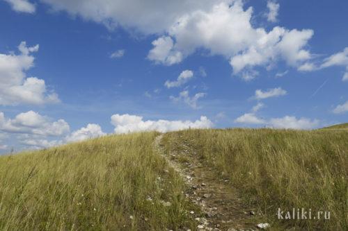 Тропинка к Памятному кресту на Монастырской горе