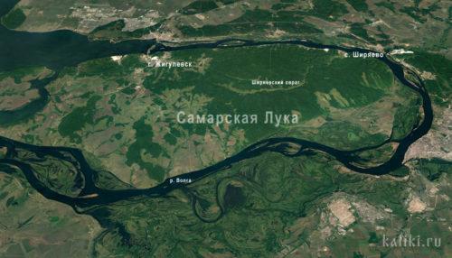 Карта Самарской Луки