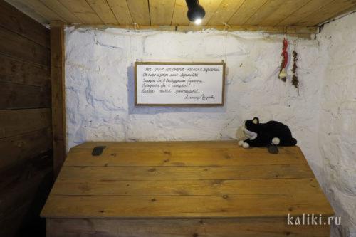 А этот сидит в погребце музея А. Ширяевца. «Мое дело маленькое - наелся и мурлыкай...»
