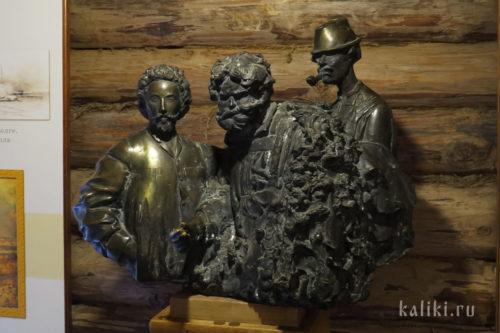 А. Щербаков. И.Е. Репин с бурлаками. Бронза. Из экспозиции музея