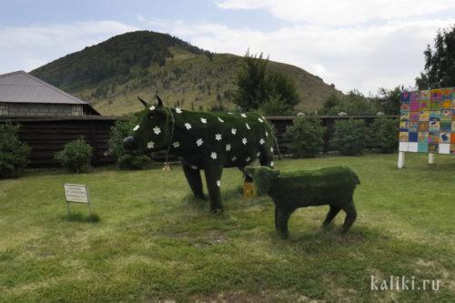 Коровки на фоне Монастырской горы