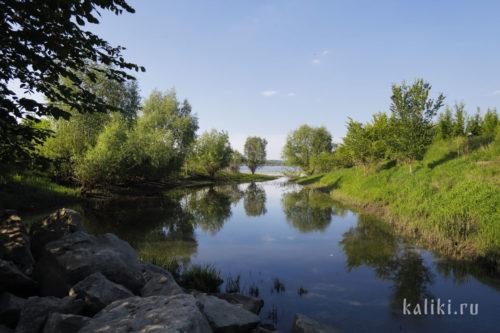 Русло Ширяевской долины в месте ее впадения в Волгу