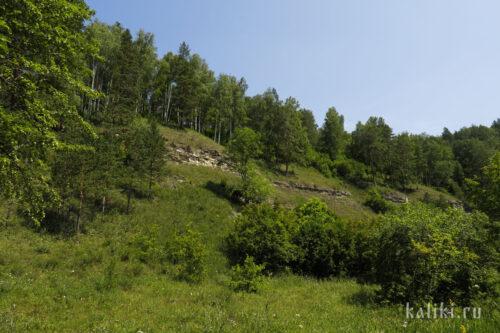 Каменные обнажения на склоне 2